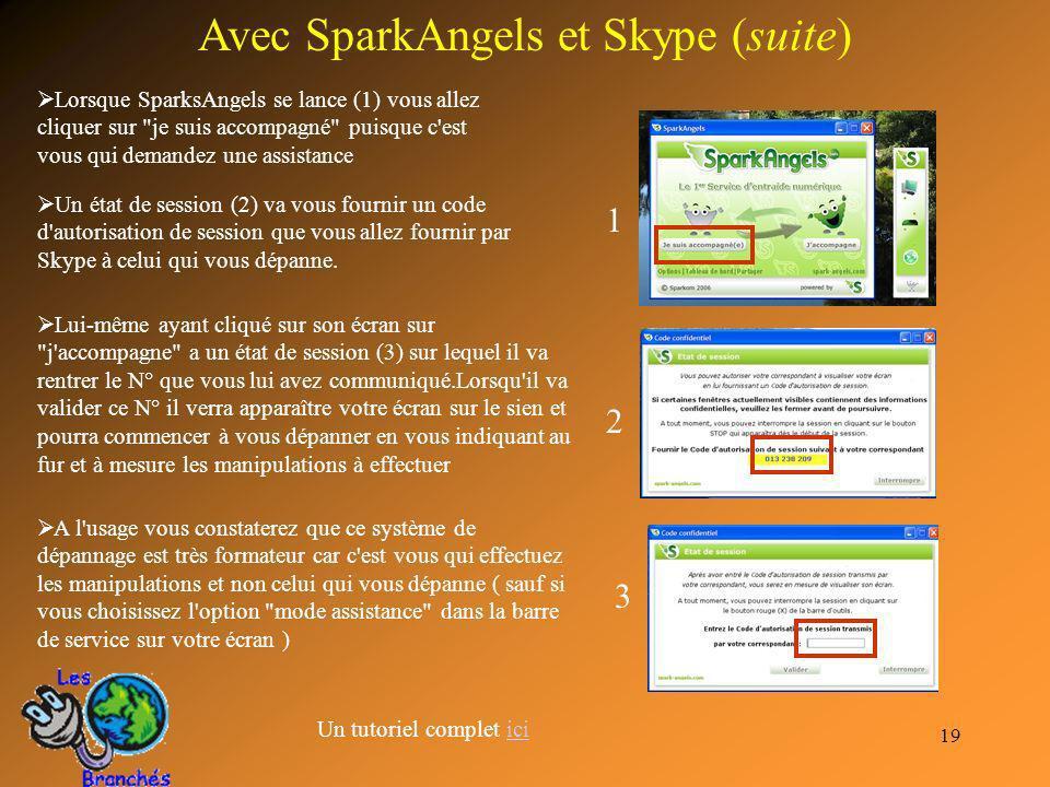 Avec SparkAngels et Skype (suite)