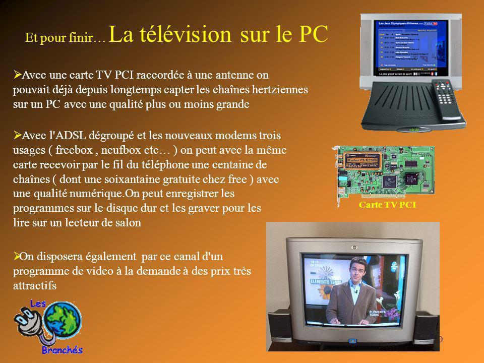 Et pour finir… La télévision sur le PC