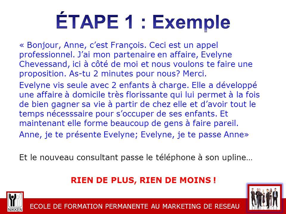 éTAPE 1 : Exemple