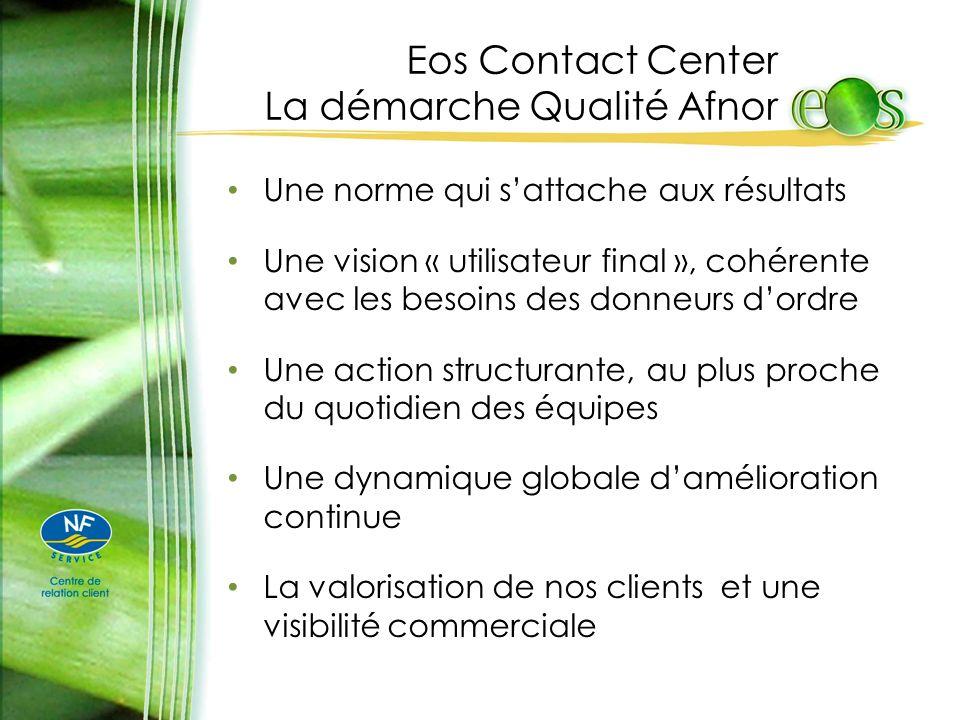 Eos Contact Center La démarche Qualité Afnor