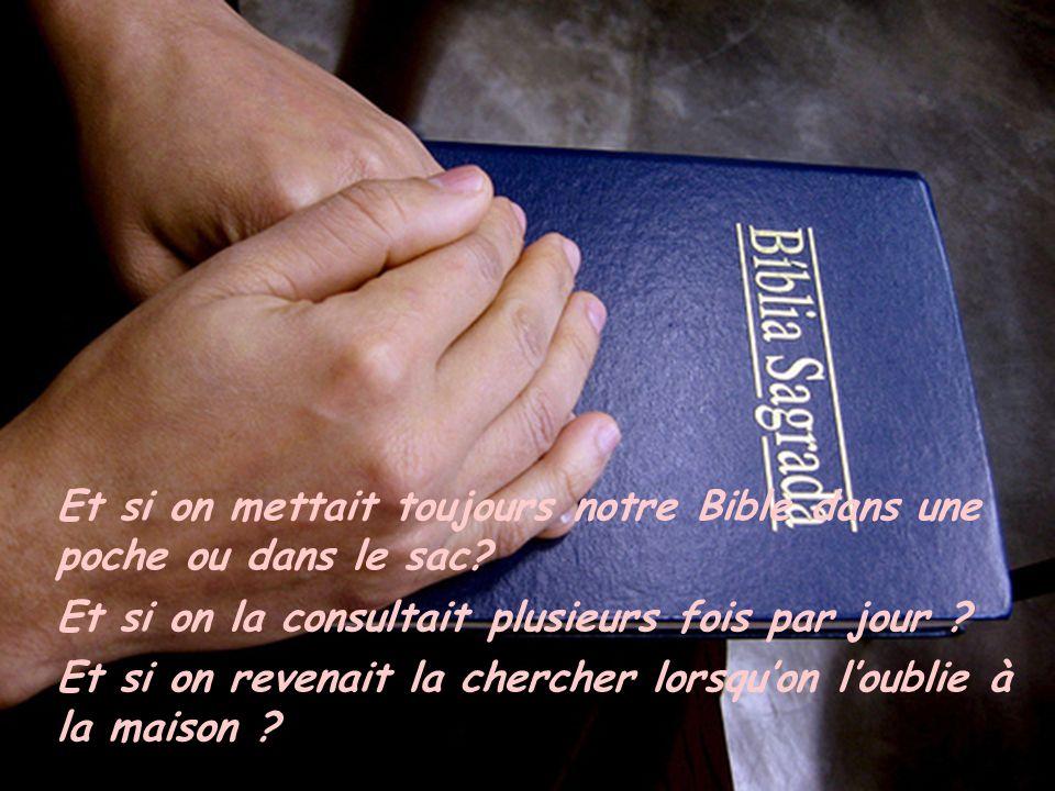 Et si on mettait toujours notre Bible dans une poche ou dans le sac