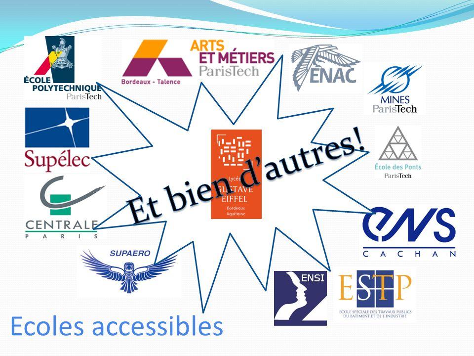 Et bien d'autres! ENSI Ecoles accessibles