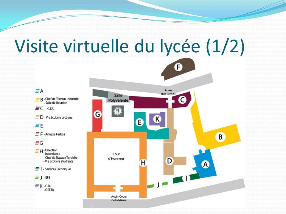 Visite virtuelle du lycée (1/2)