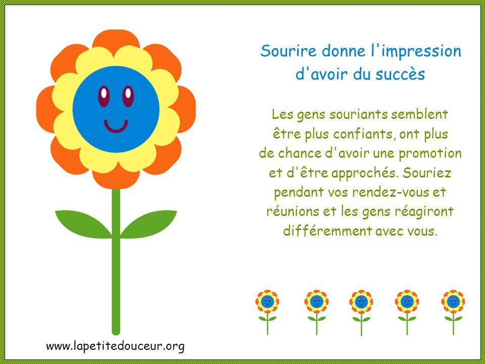 Sourire donne l impression d avoir du succès