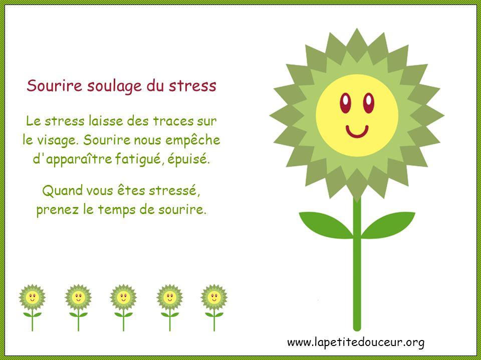 Sourire soulage du stress