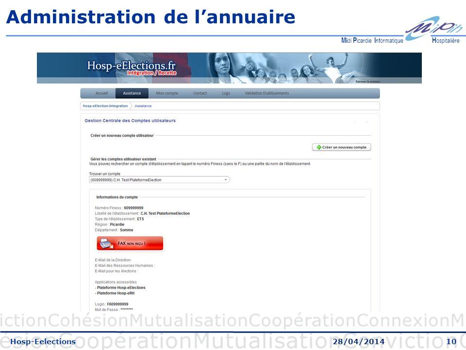 Administration de l'annuaire