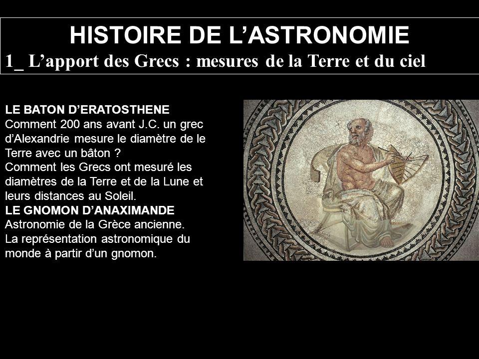 HISTOIRE DE L'ASTRONOMIE