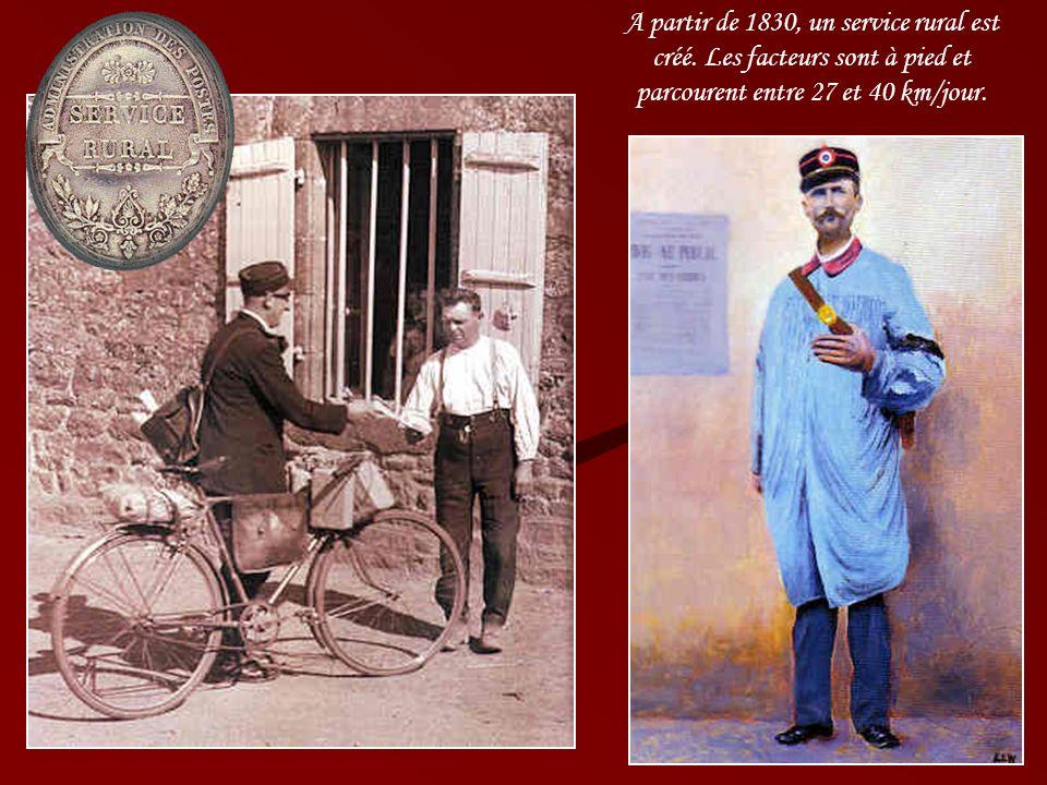 A partir de 1830, un service rural est créé