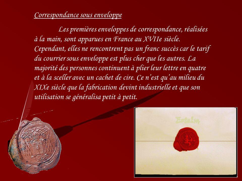 Correspondance sous enveloppe