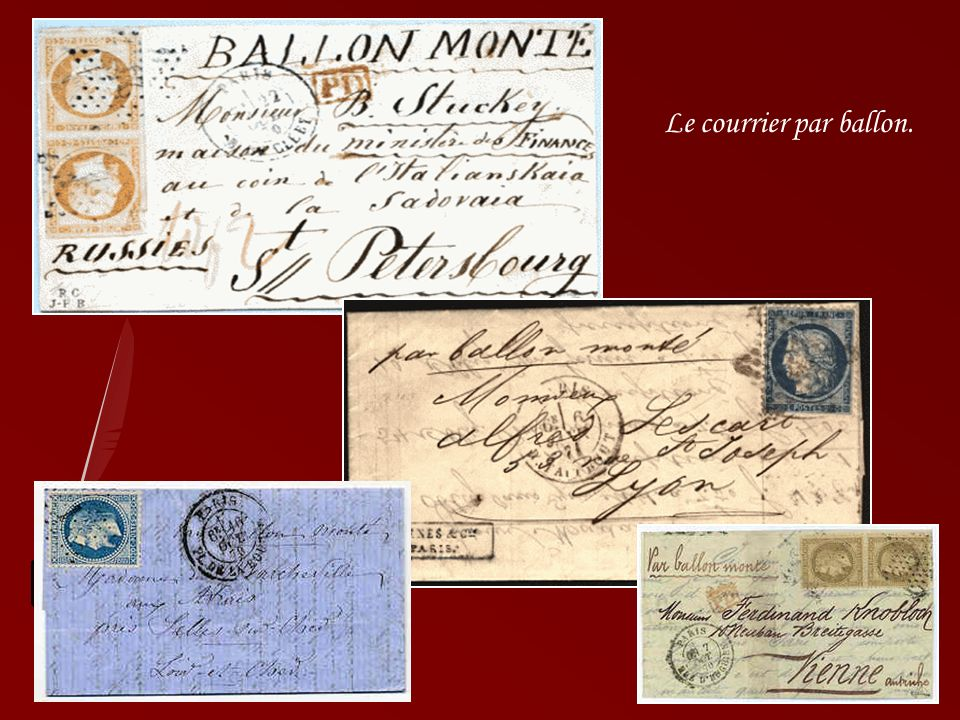 Le courrier par ballon.