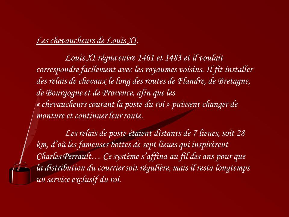 Les chevaucheurs de Louis XI.