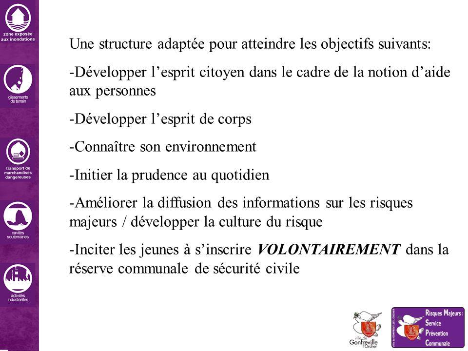 Une structure adaptée pour atteindre les objectifs suivants: