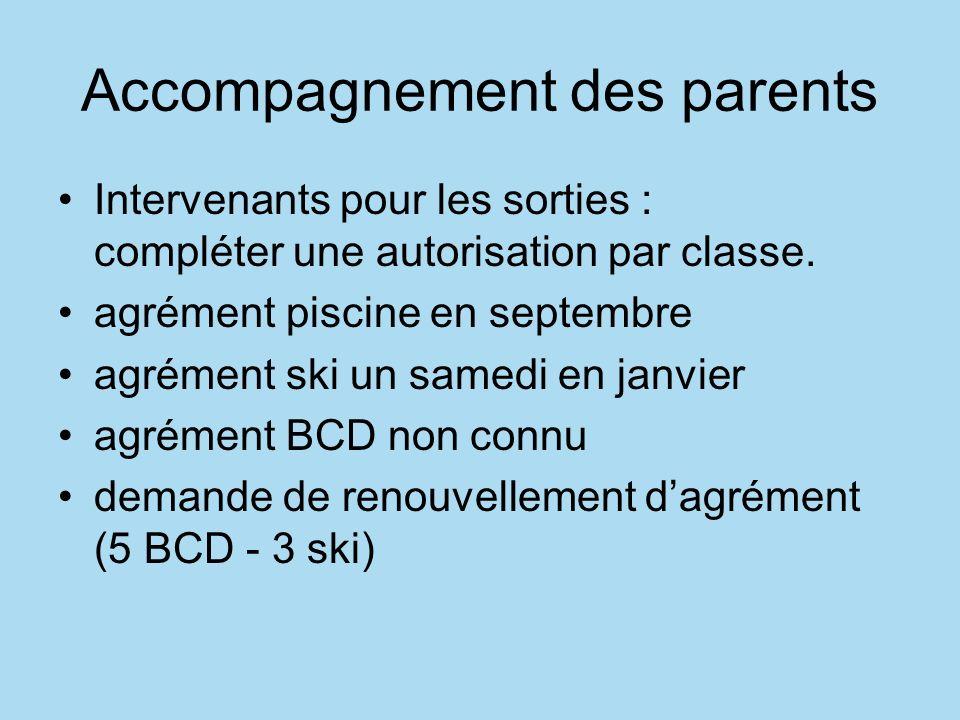 Accompagnement des parents