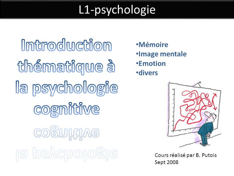 Introduction thématique à la psychologie cognitive