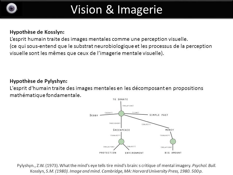 Vision & Imagerie Hypothèse de Kosslyn: