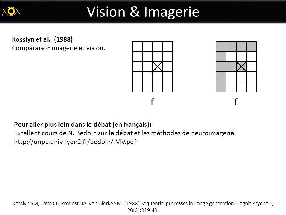 Vision & Imagerie Kosslyn et al. (1988):