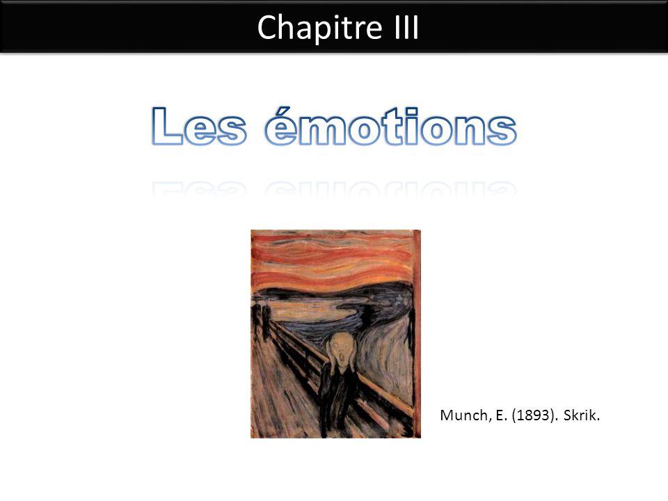 Chapitre III Les émotions Munch, E. (1893). Skrik.