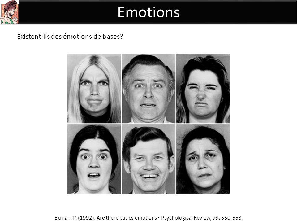 Emotions Existent-ils des émotions de bases