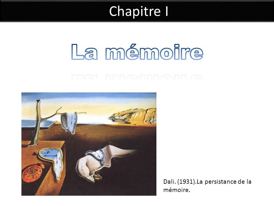 La mémoire Chapitre I Dali. (1931).La persistance de la mémoire.