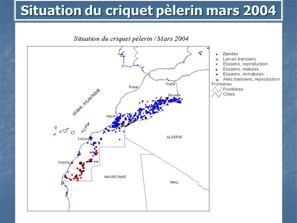 Situation du criquet pèlerin mars 2004