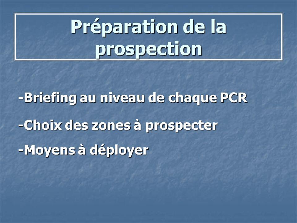 Préparation de la prospection
