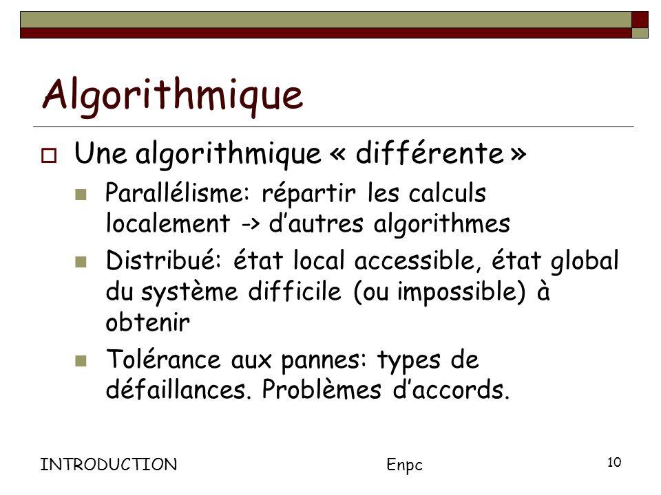 Algorithmique Une algorithmique « différente »