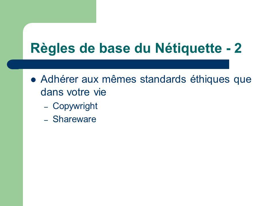 Règles de base du Nétiquette - 2