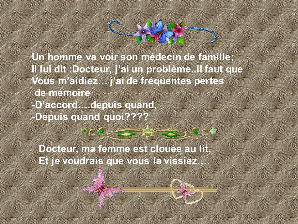 Un homme va voir son médecin de famille;