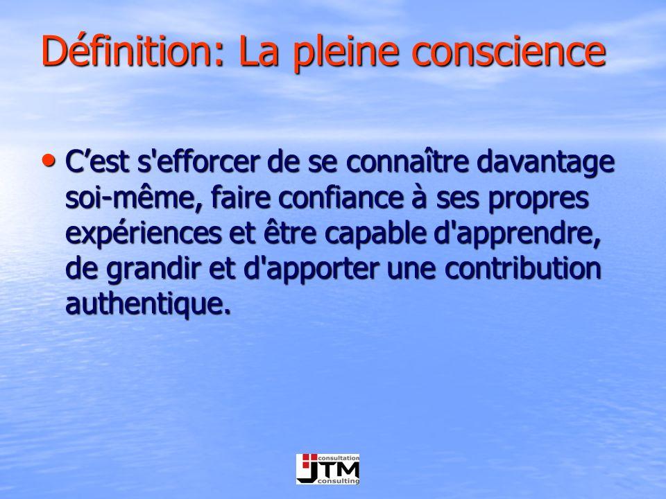 Définition: La pleine conscience