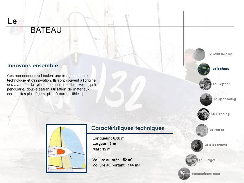Le BATEAU Innovons ensemble Caractéristiques techniques