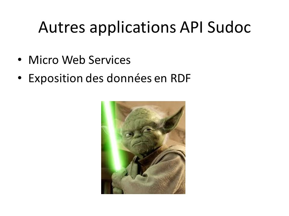 Autres applications API Sudoc