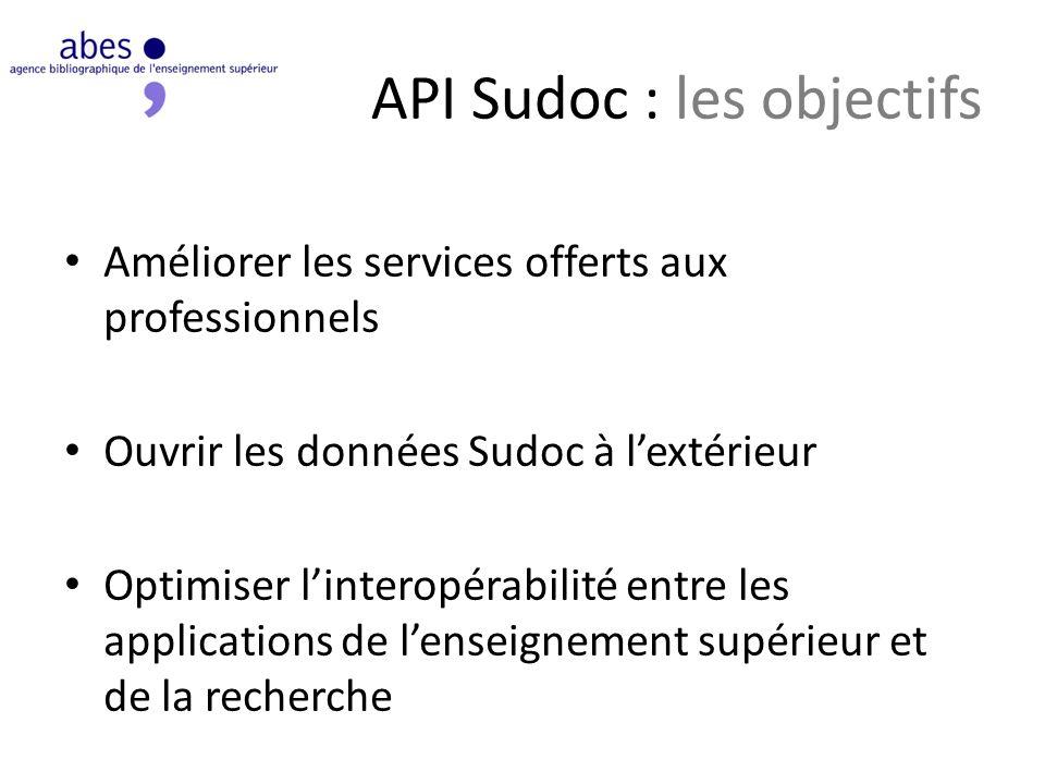 API Sudoc : les objectifs