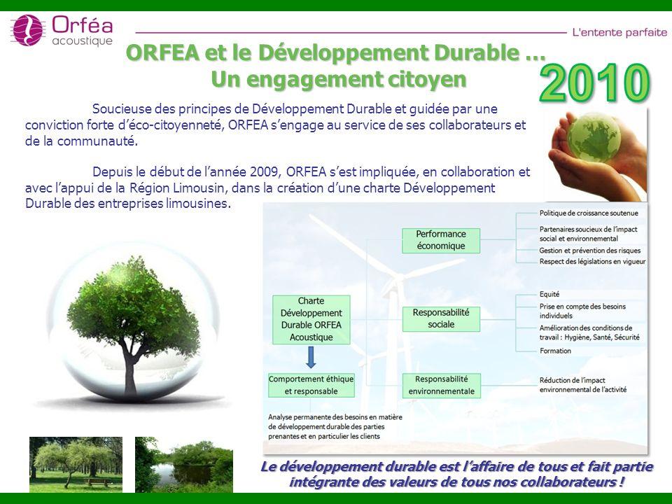 ORFEA et le Développement Durable …