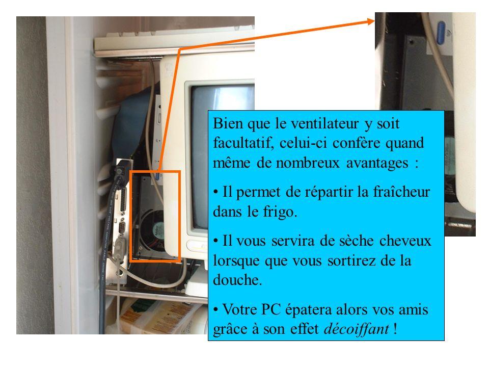 Bien que le ventilateur y soit facultatif, celui-ci confère quand même de nombreux avantages :