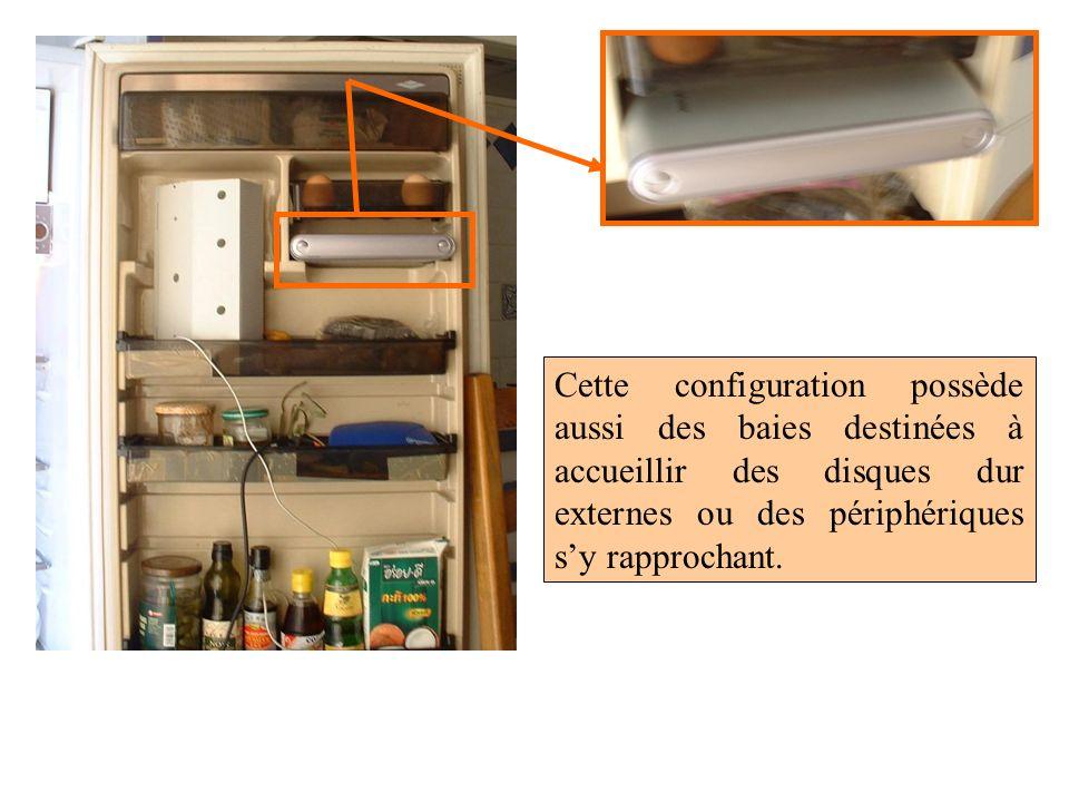 Cette configuration possède aussi des baies destinées à accueillir des disques dur externes ou des périphériques s'y rapprochant.