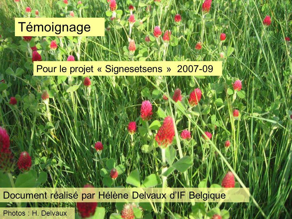 Témoignage Pour le projet « Signesetsens » 2007-09