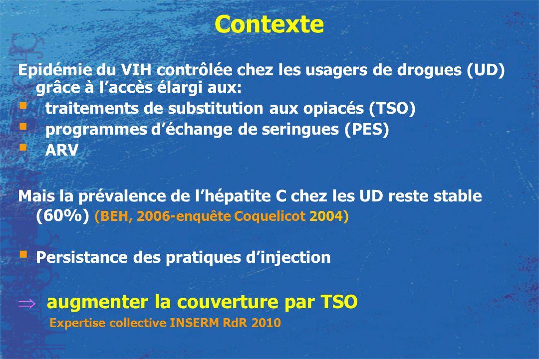 Contexte augmenter la couverture par TSO