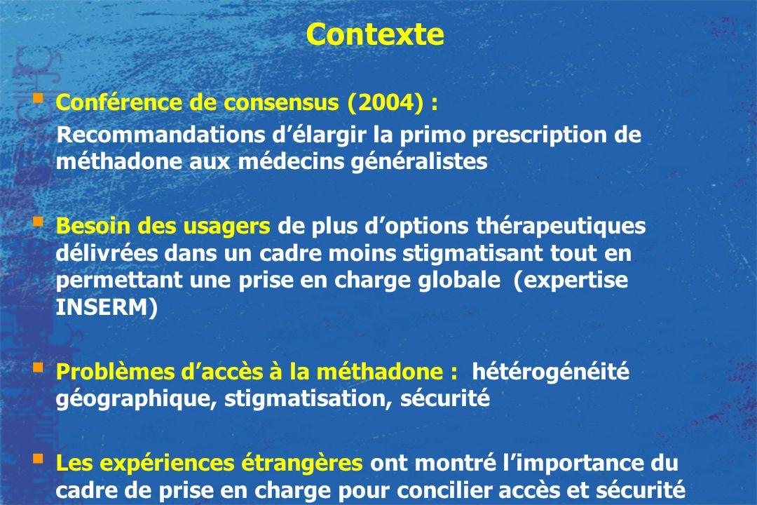 Contexte Conférence de consensus (2004) :