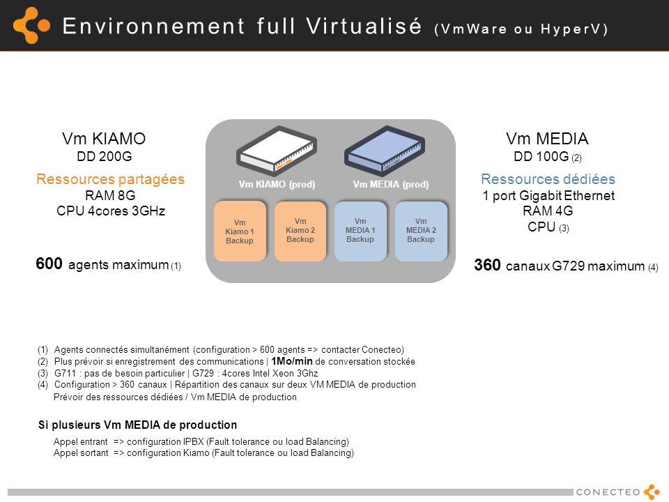 Environnement full Virtualisé (VmWare ou HyperV)