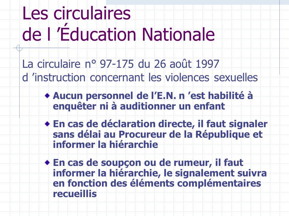 Les circulaires de l 'Éducation Nationale