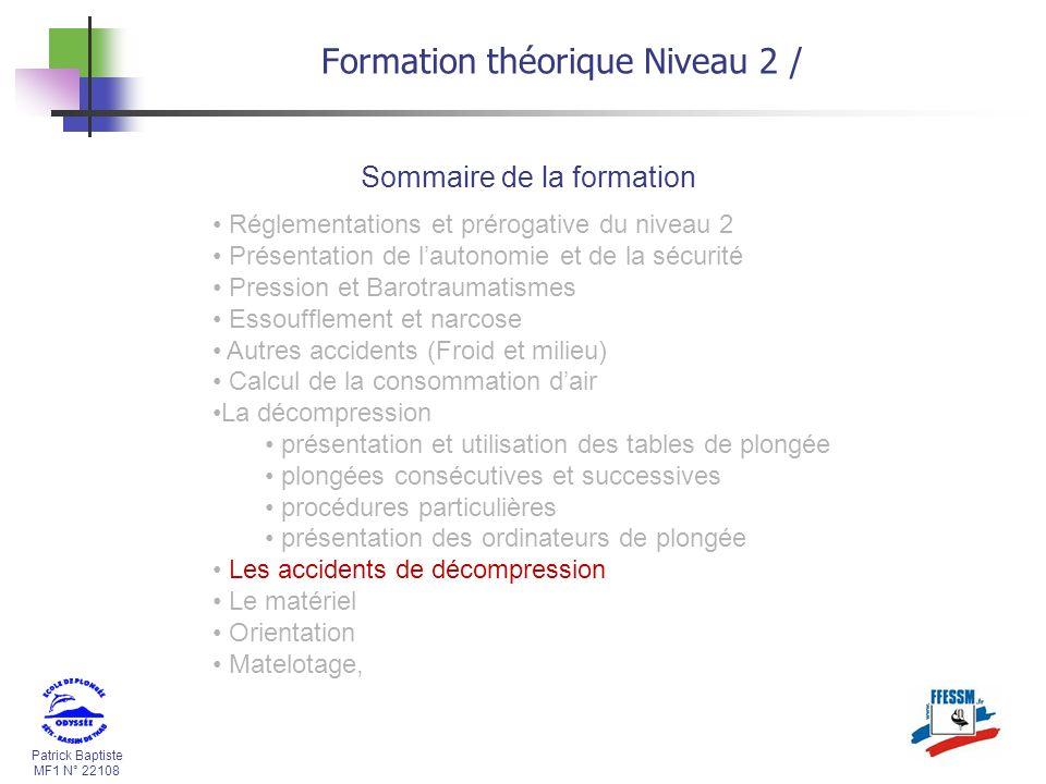 Formation théorique Niveau 2 /