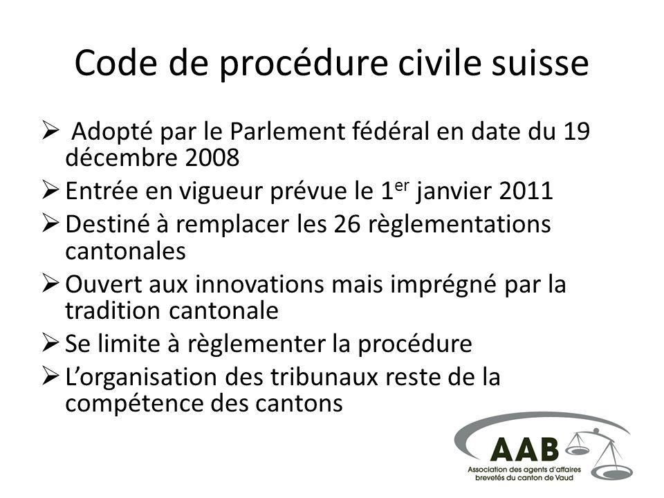 Code de procédure civile suisse