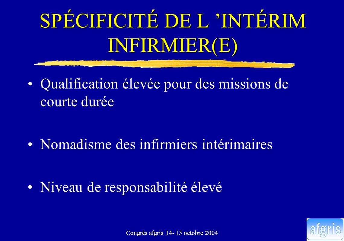 SPÉCIFICITÉ DE L 'INTÉRIM INFIRMIER(E)