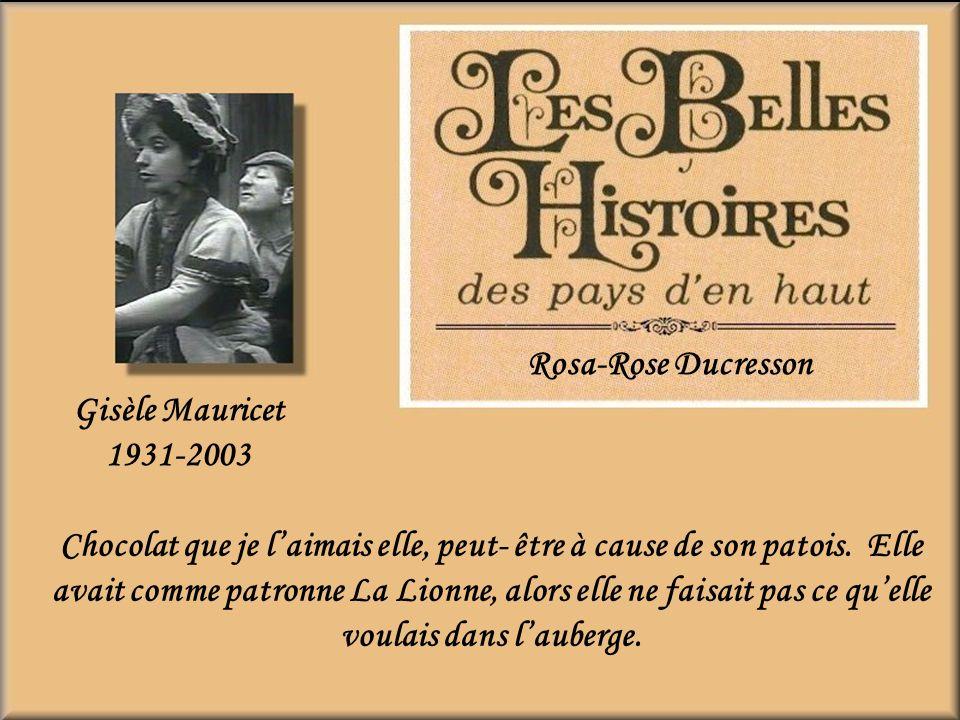 Rosa-Rose Ducresson Gisèle Mauricet. 1931-2003.