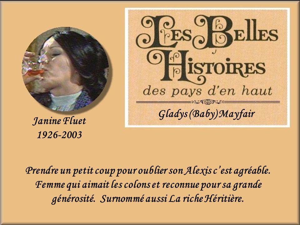 Gladys (Baby) Mayfair Janine Fluet. 1926-2003.