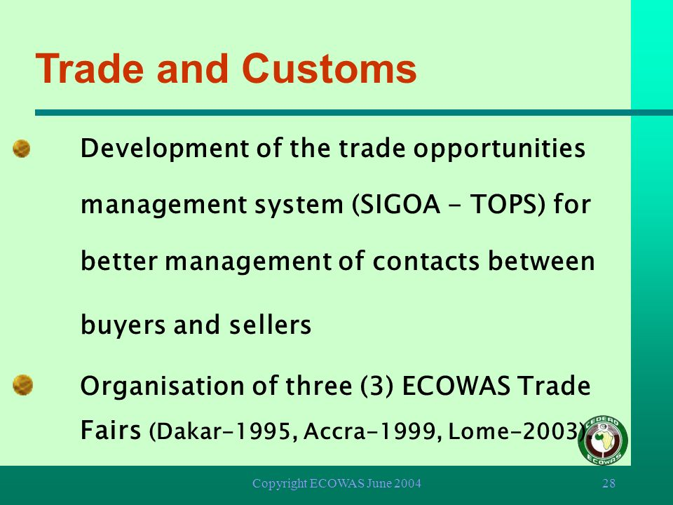 Trade and Customs