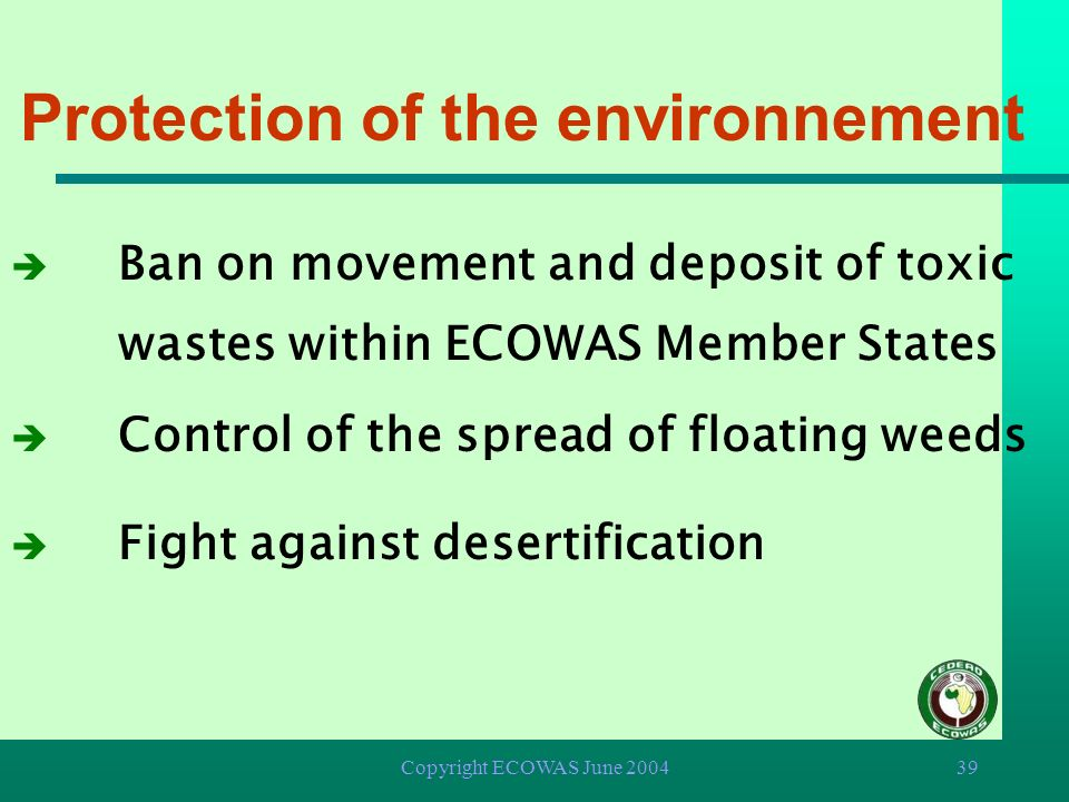 Protection of the environnement