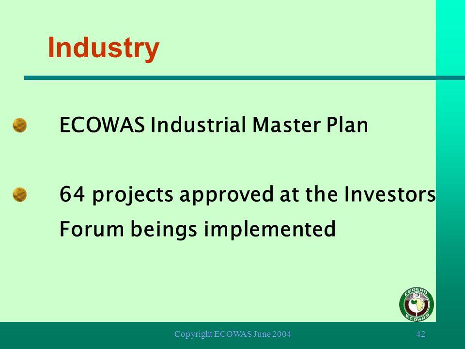 Industry ECOWAS Industrial Master Plan