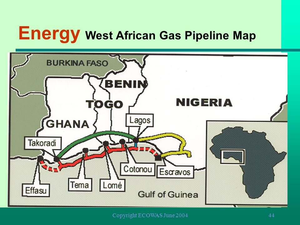 Energy West African Gas Pipeline Map