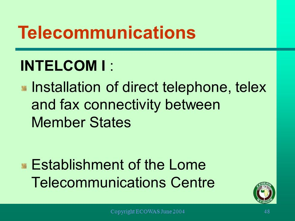 Telecommunications INTELCOM I :